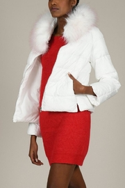 Molly Bracken White Puffer With Fur Trim - Product Mini Image