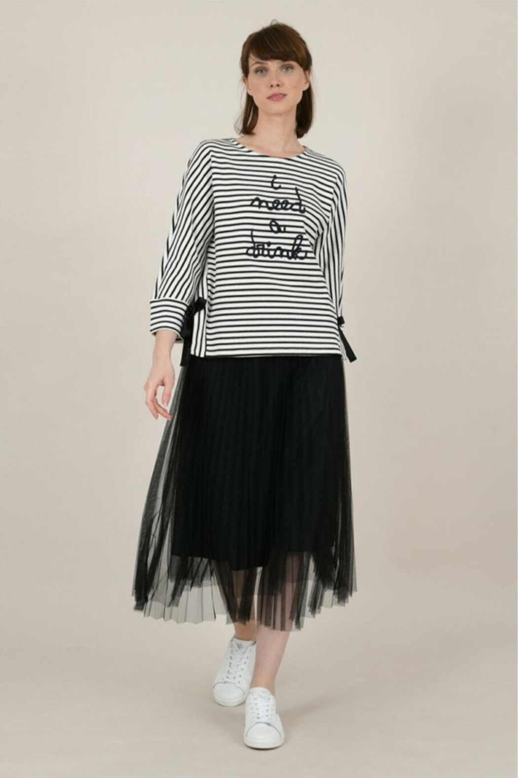 Molly Bracken Wide Message Sweater - Front Full Image