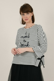 Molly Bracken Wide Message Sweater - Front cropped