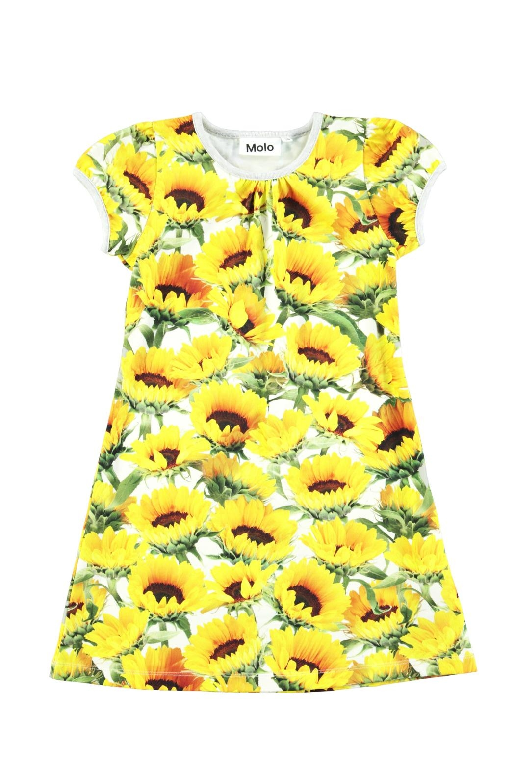 Molo Camellia Sunflowers Dress - Front Cropped Image