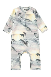 Molo Fiona Dolphins Playsuit - Front cropped