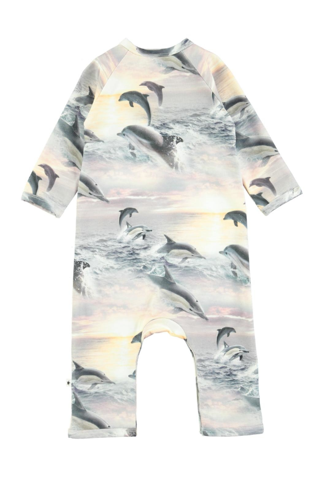 Molo Fiona Dolphins Playsuit - Front Full Image