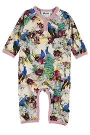 Molo Fiona Peacocks Playsuit - Front cropped