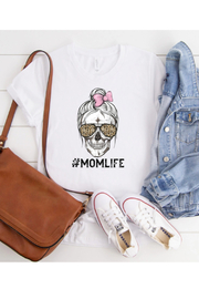Midwest Tees Mom Life Skull Tee - Product Mini Image