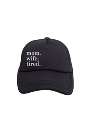 Tiny Trucker Mom Wife Tired Trucker Hat - Product Mini Image