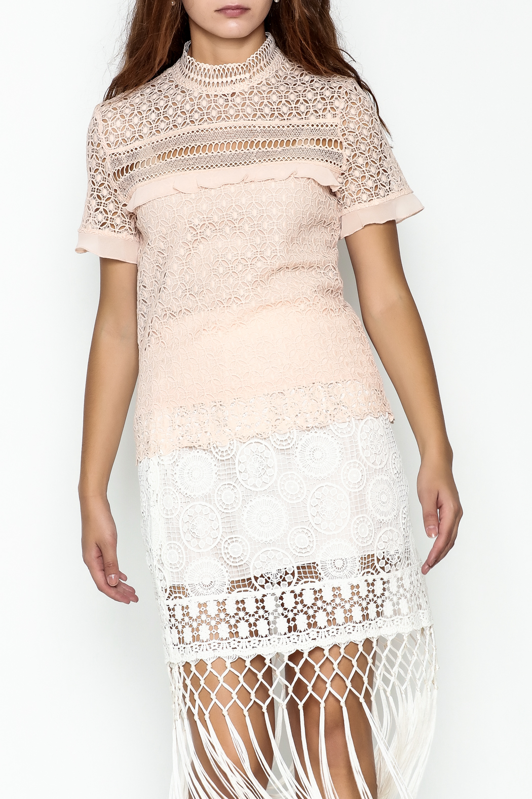 MOMNI BOUTIQUE Aleandra Lace Top - Front Cropped Image