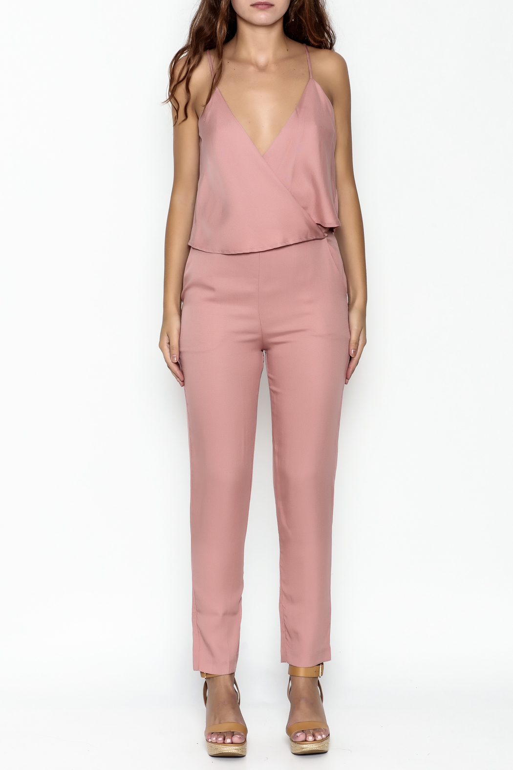 MOMNI BOUTIQUE Chic Pink Jumpsuit - Front Full Image