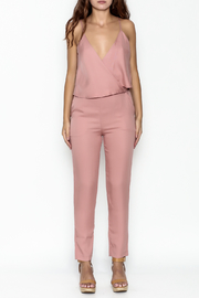 MOMNI BOUTIQUE Chic Pink Jumpsuit - Front full body