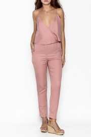 MOMNI BOUTIQUE Chic Pink Jumpsuit - Front cropped