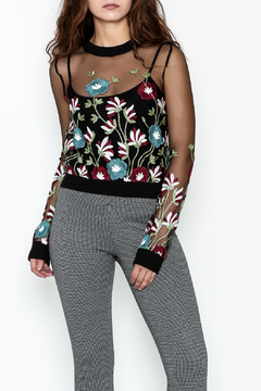 Shoptiques Product: Sheer Floral Sweater