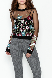 MOMNI BOUTIQUE Sheer Floral Sweater - Product Mini Image