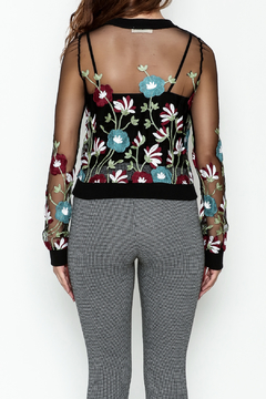 MOMNI BOUTIQUE Sheer Floral Sweater - Alternate List Image