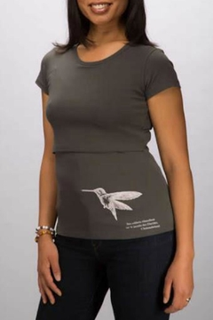 momzelle Hummingbird Nursing Shirt - Alternate List Image
