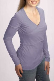 momzelle Long-Sleeved Nursing Shirt - Front cropped