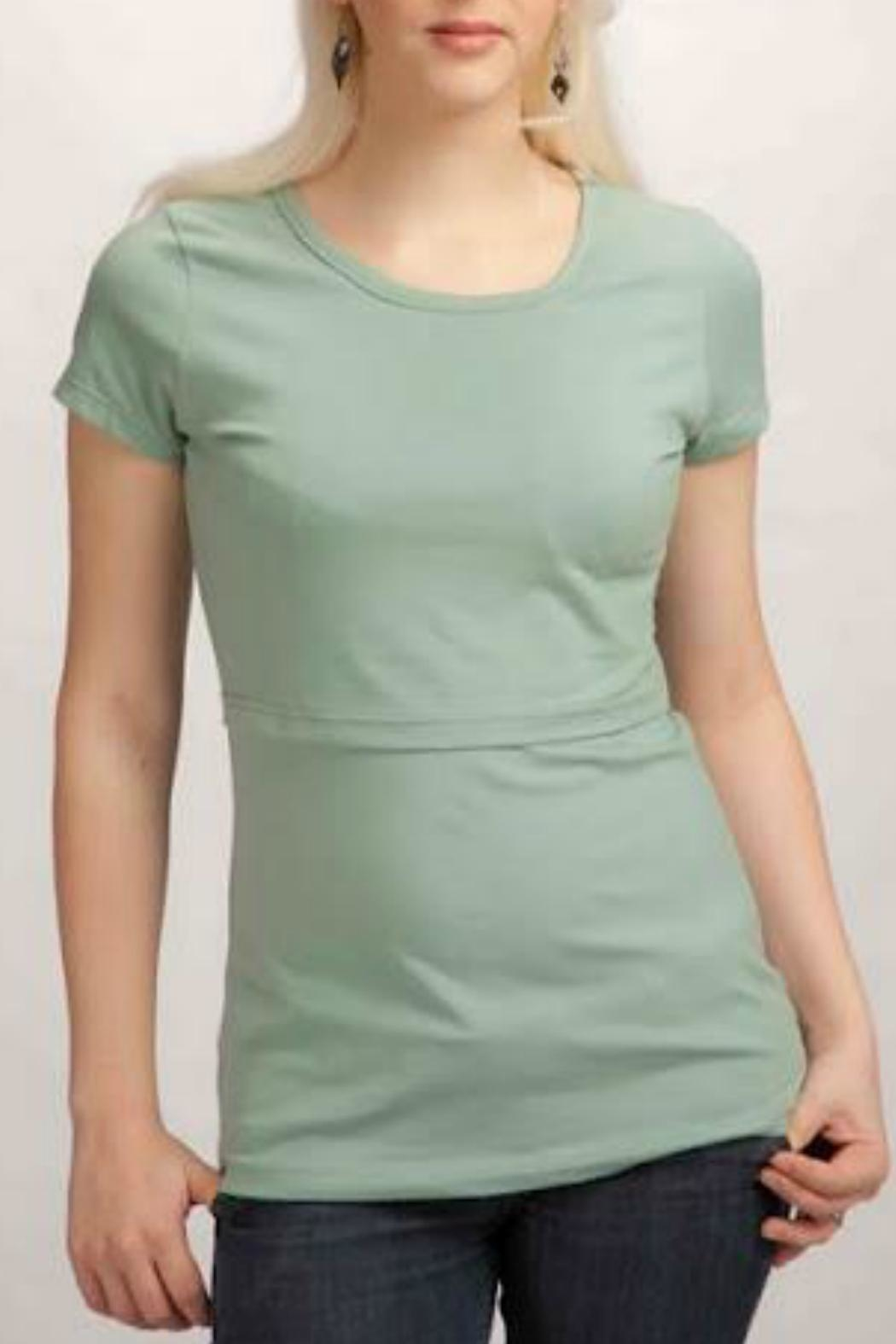 momzelle Round-Neck Nursing Shirt - Main Image