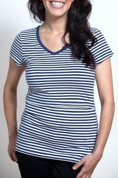 momzelle Striped Nursing Top - Alternate List Image