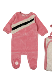 MON TRESOR  Mon Tresor Bebe Fur Infant Layette Set - Product Mini Image