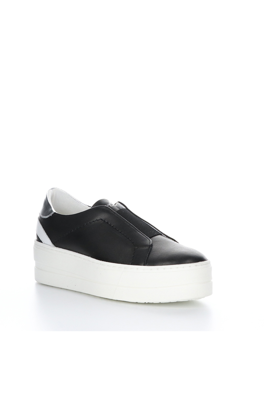 Bos & Co. Mona Black Leather Slip On - Front Cropped Image