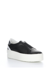 Bos & Co. Mona Black Leather Slip On - Front cropped