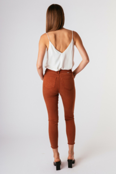 Tractr Mona High-Rise Fray Hem Cropped Skinny Jeans - Alternate List Image