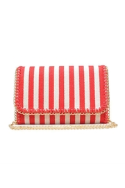 Urban Expressions Mona Striped Clutch - Front cropped