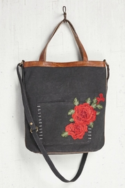 Mona B Canvas Rosette Tote - Front cropped