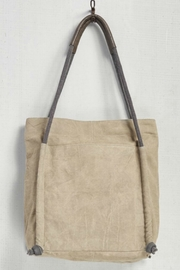Mona B Snap Canvas Tote - Front full body