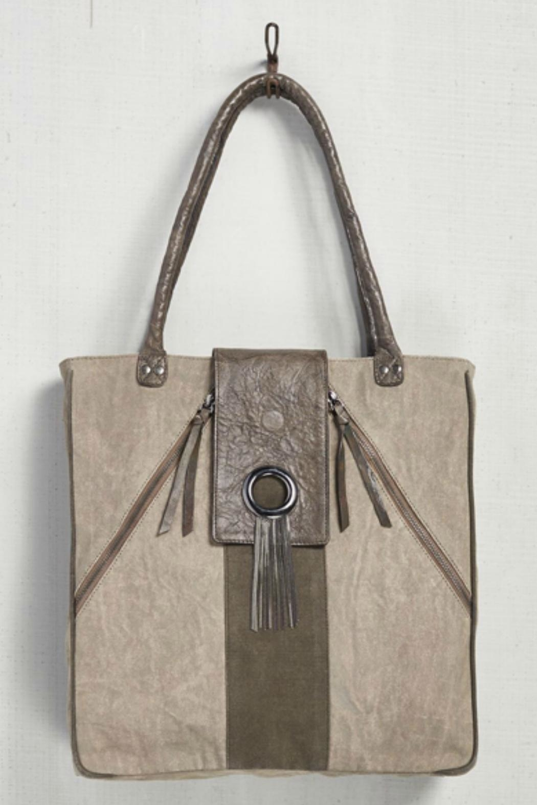 Mona B Up-Cycled Canvas Tote - Main Image