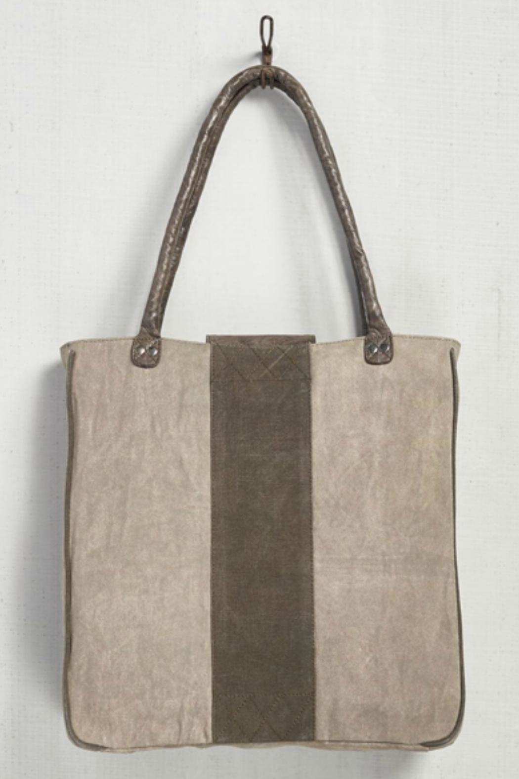Mona B Up-Cycled Canvas Tote - Front Full Image