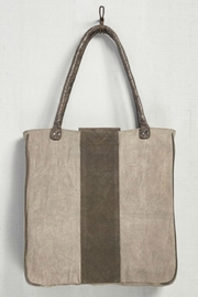 Mona B Up-Cycled Canvas Tote - Front full body