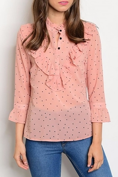 Shoptiques Product: Pink Ruffle Blouse