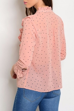MonaMi Pink Ruffle Blouse - Alternate List Image