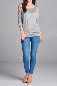 MonaMi Simple Cold Shoulder Top - Product List Image
