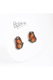 Poptone Co. Monarch Butterfly Stud Earrings - Product Mini Image