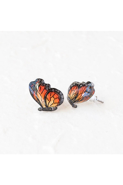 Poptone Co. Monarch Butterfly Stud Earrings - Alternate List Image