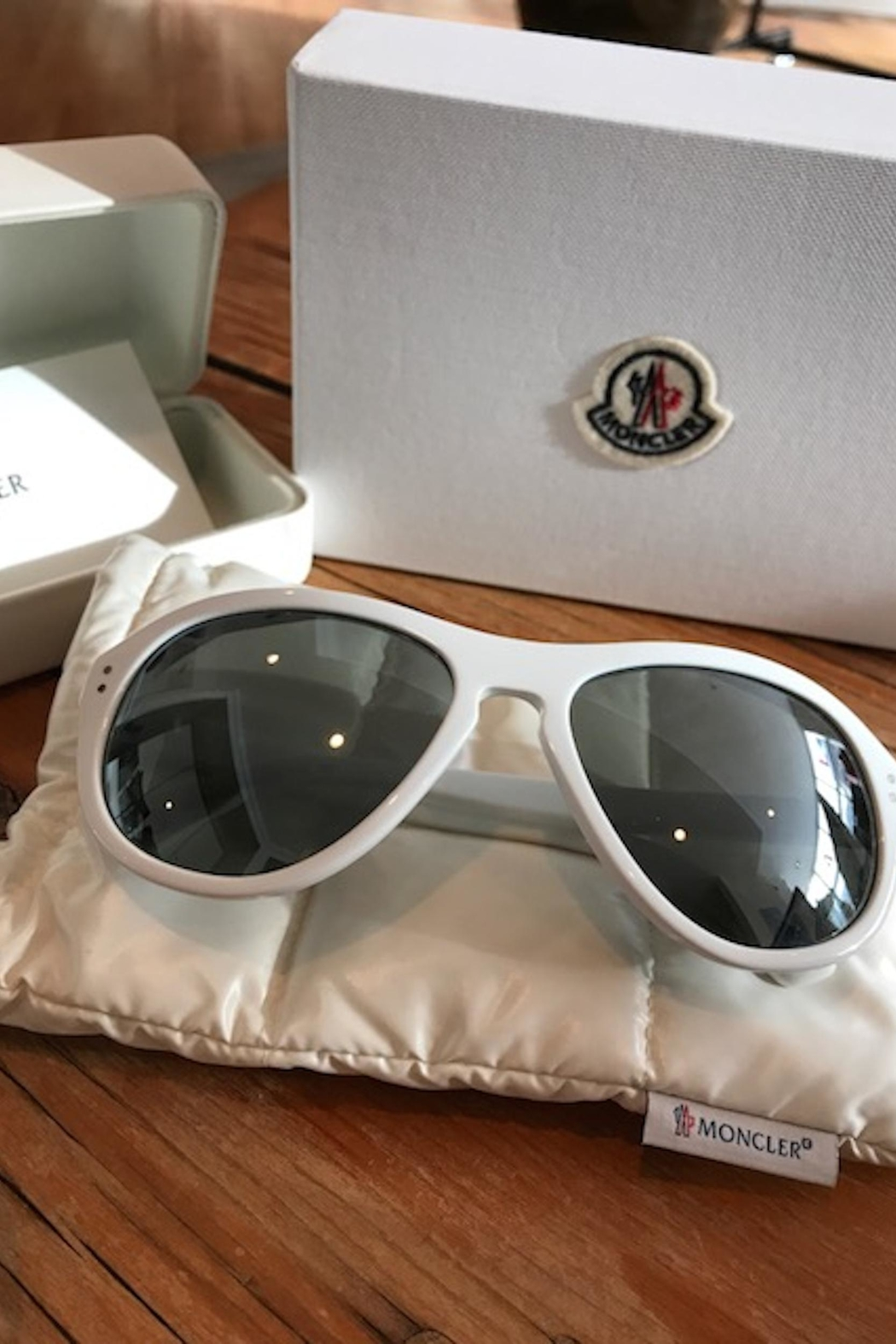 Moncler Deluxe White Sunglasses - Main Image