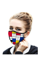 DiJore Mondrian Composition II Face Mask - Product Mini Image