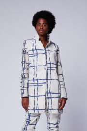 Baci Mondrian Single Button Blazer - Product Mini Image