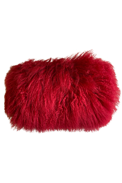 The Birch Tree Mongolian Red Fur Pillows - Alternate List Image