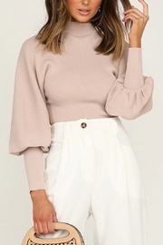 Esley Collection Monica Mock Neck Sweater - Product Mini Image