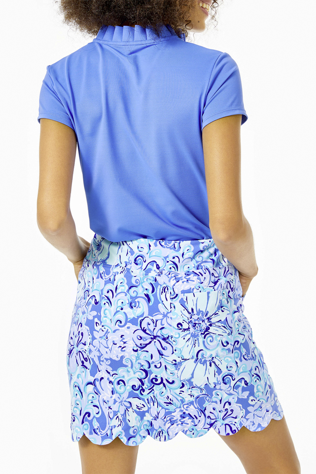 Lilly Pulitzer  Monica Scallop Golf Skort Luxletic UPF 50+ - Side Cropped Image