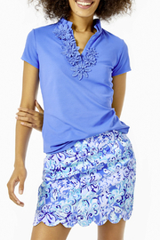 Lilly Pulitzer  Monica Scallop Golf Skort Luxletic UPF 50+ - Front cropped