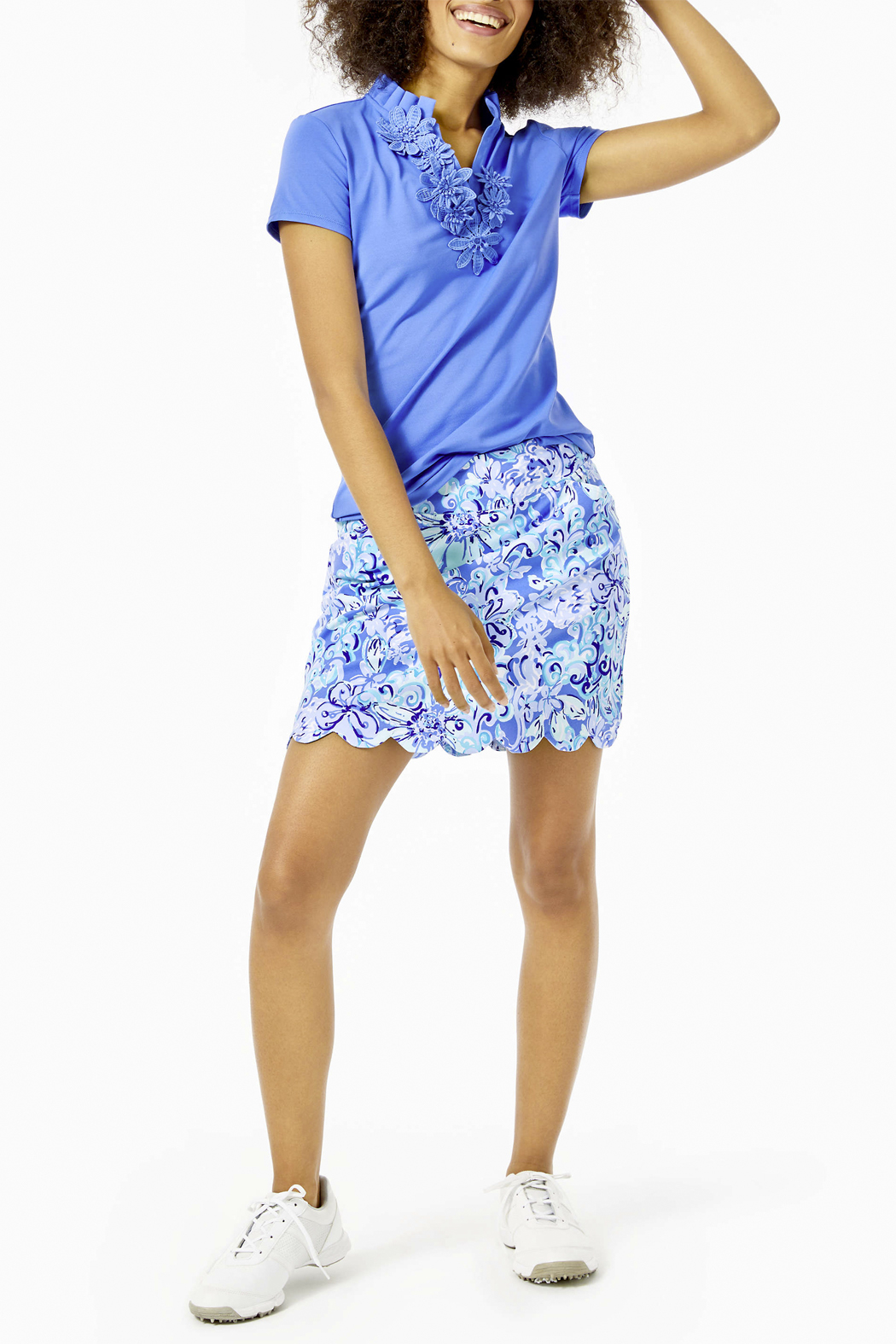 Lilly Pulitzer  Monica Scallop Golf Skort Luxletic UPF 50+ - Back Cropped Image