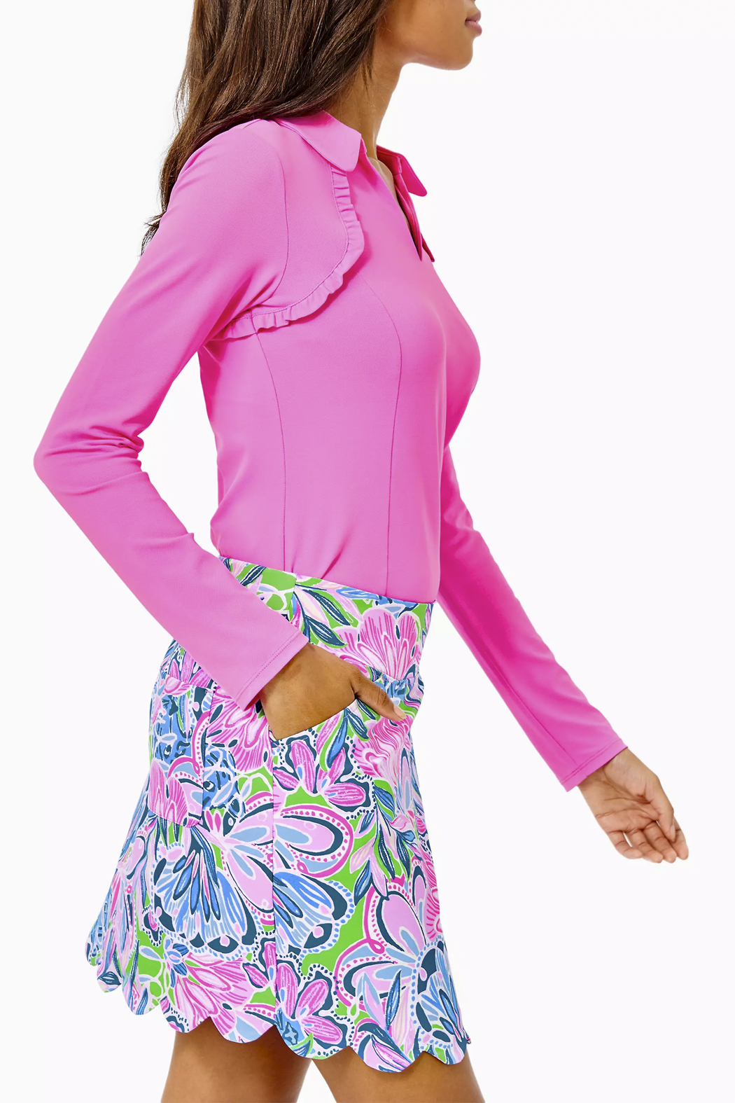 Lilly Pulitzer  Monica Scallop Skort-Luxletic UPF 50+ - Side Cropped Image