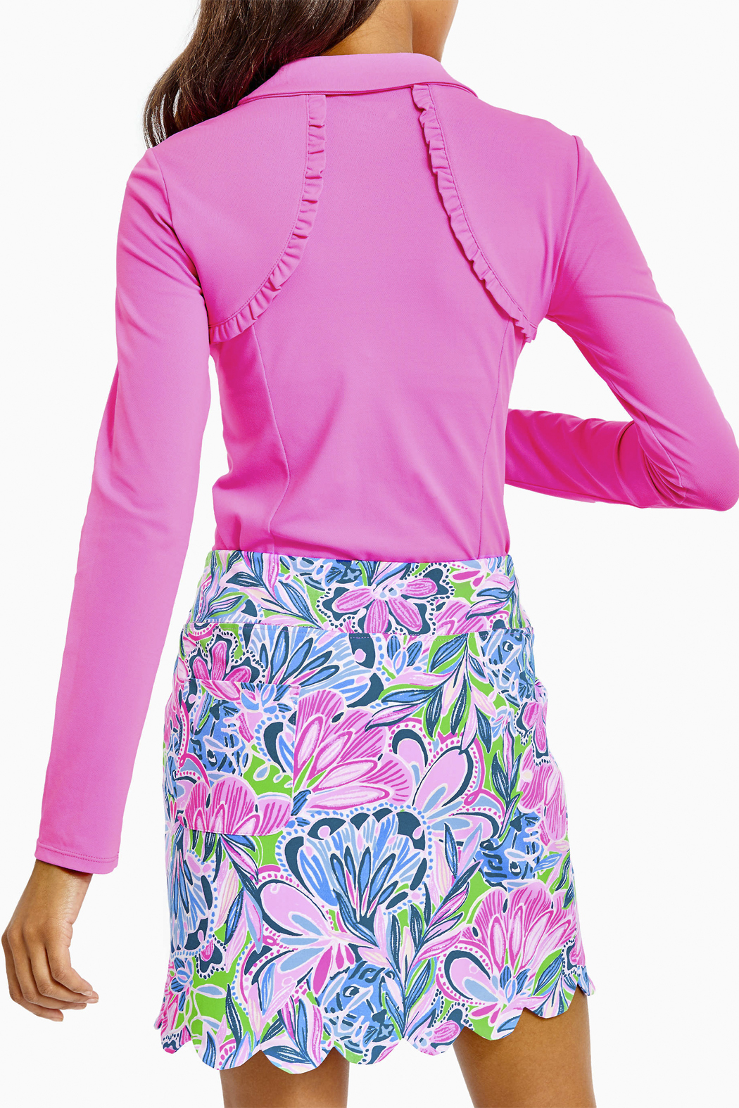 Lilly Pulitzer  Monica Scallop Skort-Luxletic UPF 50+ - Front Full Image