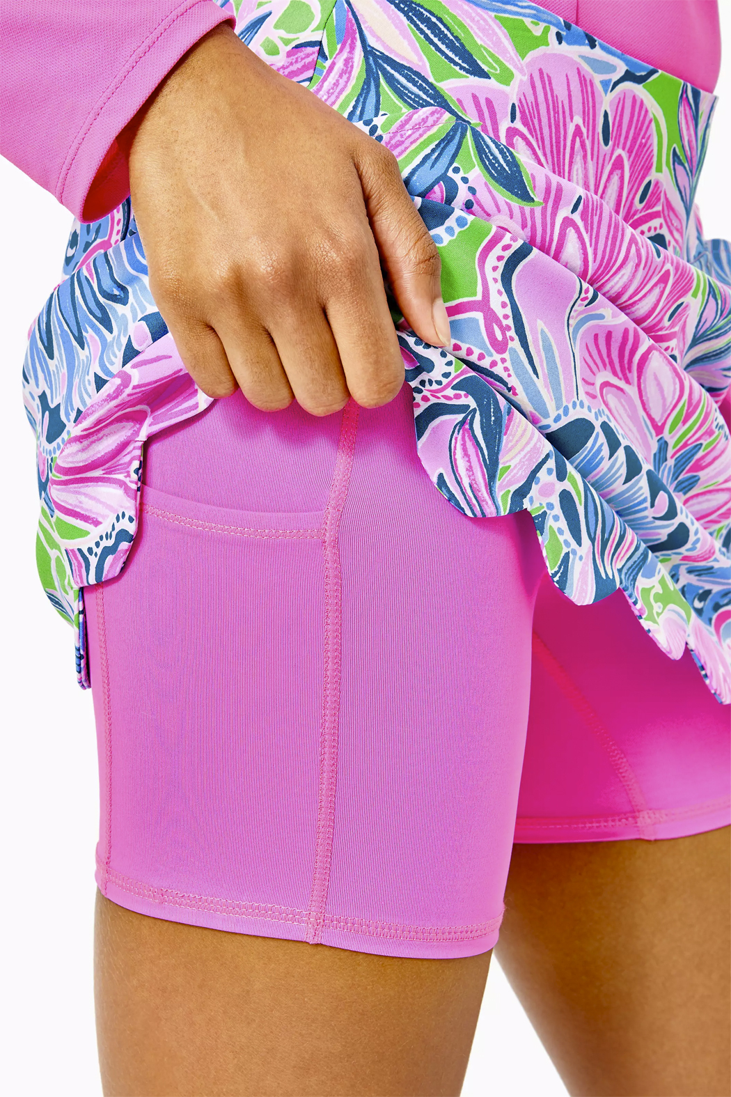 Lilly Pulitzer  Monica Scallop Skort-Luxletic UPF 50+ - Back Cropped Image
