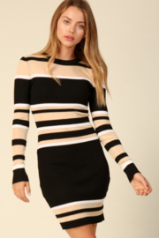 Timing Monica Striped Sweater Dress - Product Mini Image