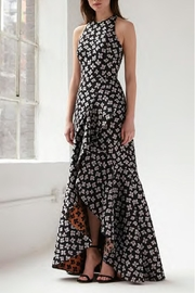 Monique Lhuillier ML Sleeveless Jacquard Gown - Product Mini Image