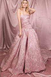 Monique Lhullier Metallic Rose Gown - Product Mini Image