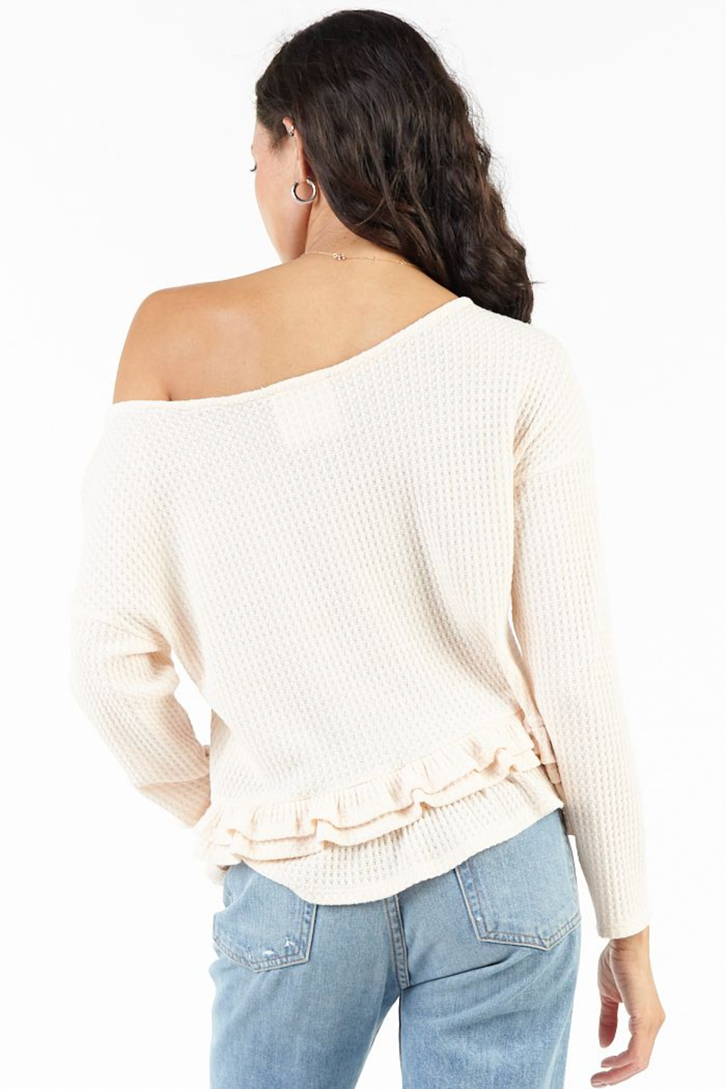 Sadie & Sage MONITE RUFFLE HEM TOP - Side Cropped Image